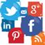 Logo af forskellige sociale medier
